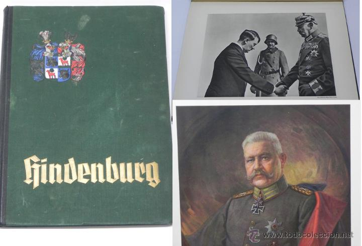 HINDENBURG, 1934. TELA DECORADA. ALBUM DE CROMOS CONMEMORATIVO DE LA VIDA DE PAUL VON HINDENBURG (18 (Militar - Fotografía Militar - II Guerra Mundial)