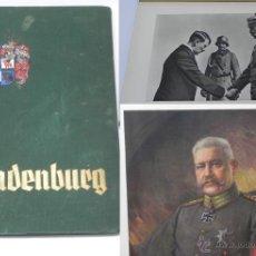 Militaria: HINDENBURG, 1934. TELA DECORADA. ALBUM DE CROMOS CONMEMORATIVO DE LA VIDA DE PAUL VON HINDENBURG (18. Lote 42216092
