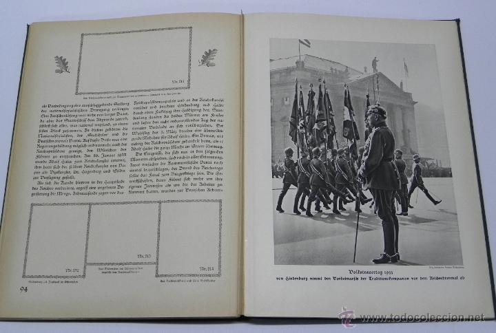 Militaria: Hindenburg, 1934. Tela decorada. Album de cromos conmemorativo de la vida de Paul von Hindenburg (18 - Foto 3 - 42216092
