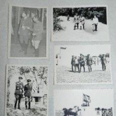 Militaria: LOTE DE 5 FOTOGRAFIAS DE LA YEGUADA MILITAR DE TIRO EN CORDOBILLA LA REAL (PALENCIA), FECHADAS EN 30. Lote 42239158