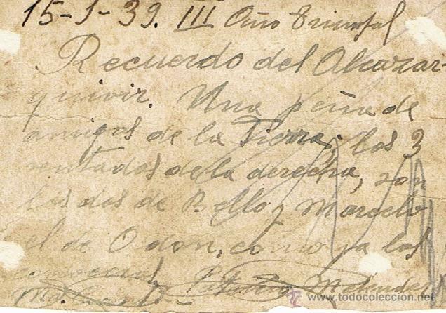 Militaria: ALCAZARQUIVIR 1939 - MARRUECOS - MILITARES - Foto 2 - 42558734