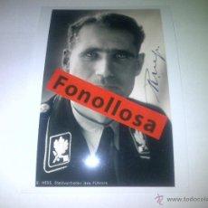 Militaria: FASCIMIL DE RUDOLF HEES FIRMADA 13X18 CMS. Lote 70357806