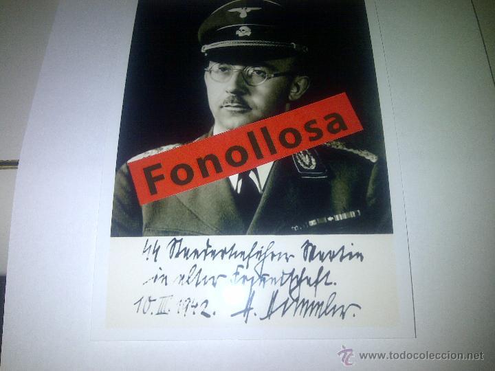 FASCIMIL DE H.HIMMLER FIRMADA 13X18 CMS (Militar - Fotografía Militar - II Guerra Mundial)