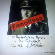 Militaria: FASCIMIL DE H.HIMMLER FIRMADA 13X18 CMS. Lote 70357850