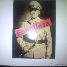 Militaria: FASCIMIL DE H. GOERING FIRMADA 13X18 CMS. Lote 70357966