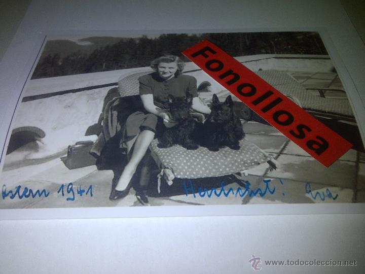 FASCIMIL DE EVA BRAUN FIRMADA 13X18 CMS (Militar - Fotografía Militar - II Guerra Mundial)