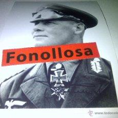 Militaria: FASCIMIL DE E. ROMMEL FIRMADA 13X18 CMS. Lote 70358191