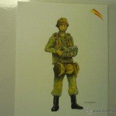 Militaria: LAMINA DIBUJO PARACAIDISTA BRIGADA --UNIFORME SALTO.-. Lote 43012443