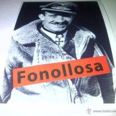 Militaria: FASCIMIL DE A. GALLAND FIRMADA 13X18 CMS. Lote 43021764