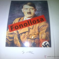 Militaria: FASCIMIL DE A.HITLER FIRMADA 13X18 CMS. Lote 43022025