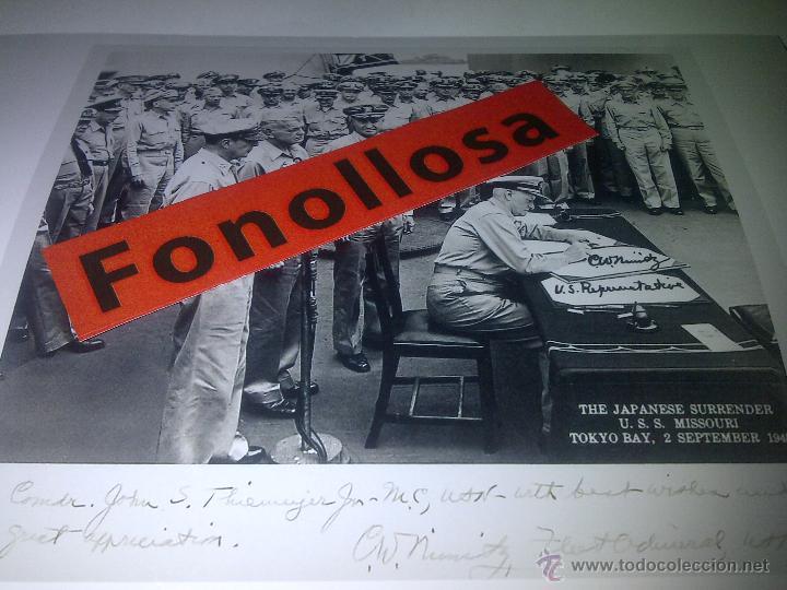 FASCIMIL DE NIMITZ FIRMADA 13X18 CMS (Militar - Fotografía Militar - II Guerra Mundial)