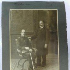 Militaria: GRAN FOTOGRAFIA DE ALFONSO XIII JUNTO CON JOSÉ CANALEJAS MÉNDEZ SU PRESIDENTE DEL CONGRESO DE LOS DI. Lote 43307479