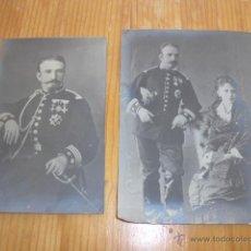 Militaria: PAREJA DE FOTOGRAFIA DE TENIENTE CORONEL, GRAN TAMAÑO, MUCHAS MEDALLAS.. Lote 43361911
