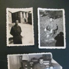 Militaria: GUERRA CIVIL: LOTE DE 3 FOTOS DE SOLDADOS NACIONALES.. Lote 43506231