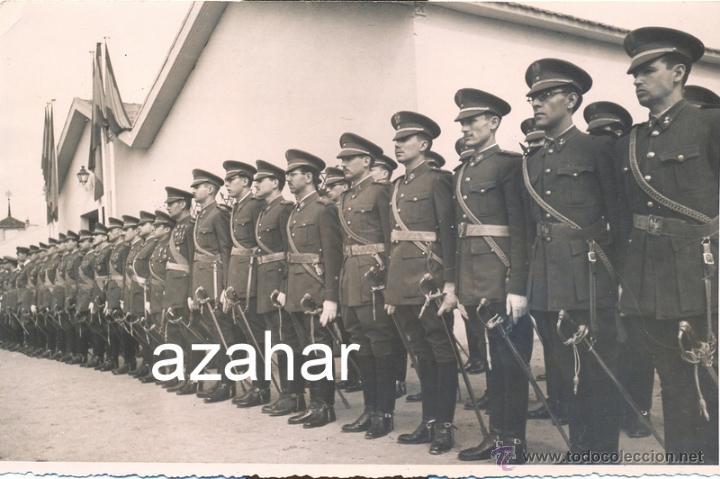 ACADEMIA MILITAR DE CABALLERIA, 1946, FORMACION ALUMNOS Y PROFESORES, MAGNIFICA,170X112MM (Militar - Fotografía Militar - Otros)