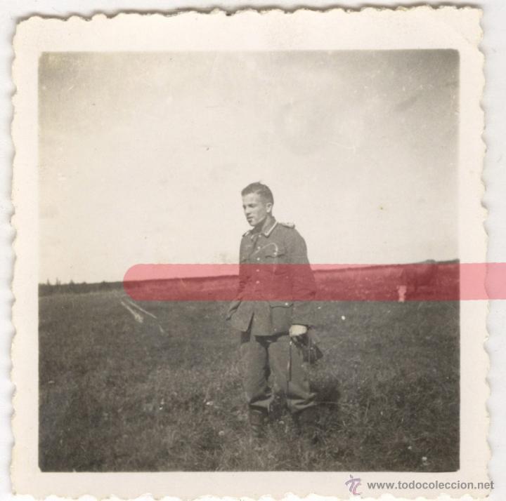 DIVISION AZUL. ANTIGUA FOTOGRAFIA ORIGINAL. PEQUEÑO TAMAÑO 6 X 6 CM (Militar - Fotografía Militar - II Guerra Mundial)