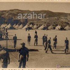 Militaria: MARBELLA, 1943, CAMPAMENTO DEL SEU, LAS CHAPAS, MAGNIFICA,140X90MM. Lote 43754896
