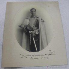 Militaria: ANTIGUA FOTOGRAFIA DE CABALLERO DE LA REAL ORDEN DEL CUERPO DE LA NOBLEZA DE MADRID, CON BICORNIO, F. Lote 43799985