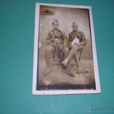 Militaria: POSTAL FOTOGRAFIA SOLDADOS ESPAÑOLES EPOCA GUERRA DE AFRICA . 14X9 CM. . Lote 43864891