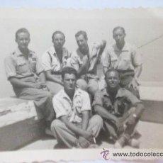 Militaria: GUERRA CIVIL : TENIENTES PROVISIONALES ( LEGION ?) . FOTO : ROS . CEUTA . 6 X 8,5 CM. Lote 43960605