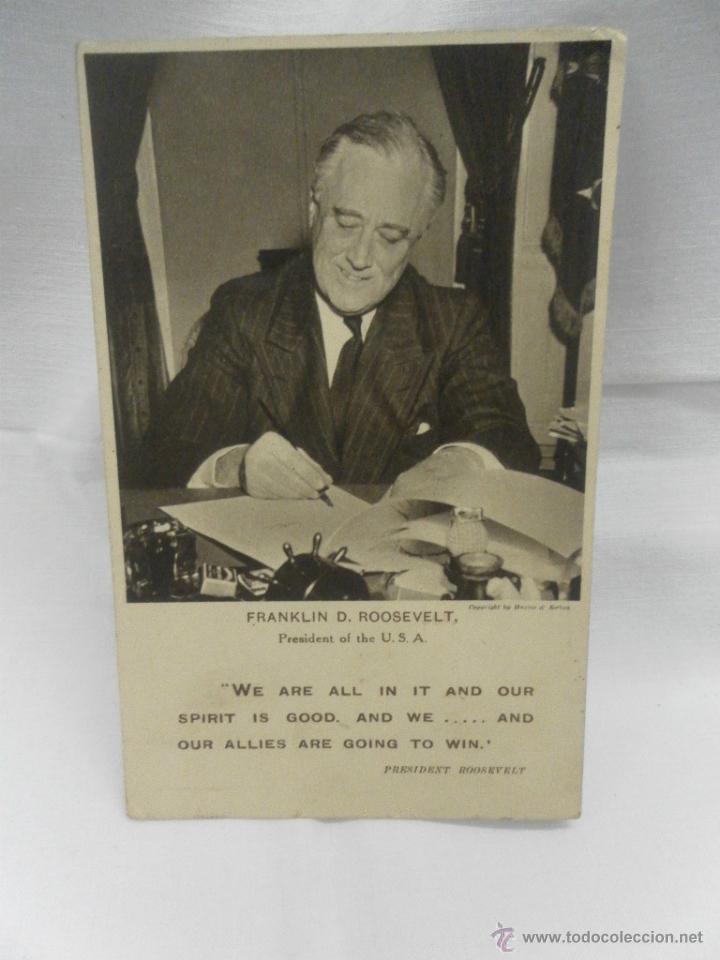 FRANKLIN D. ROOSEVELT. PRESIDENTE DE LOS ESTADOS UNIDOS (Militar - Fotografía Militar - II Guerra Mundial)