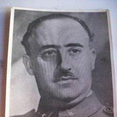 Militaria: GUERRA CIVIL : FOTO OFICIAL DE S.E. EL JEFE DEL ESTADO D.FRANCISCO FRANCO. 18 X 24 CM... Lote 44044325