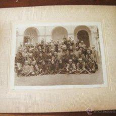 Militaria: FOTOGRAFIA DE UN GRUPO DE OFICIALES CON PREDOMINIO DE CABALLERIA. Lote 44177347