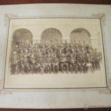 Militaria: FOTOGRAFIAS DE FINALES DEL S XIX CON OFICIALES DEL REGIMIENTO DE INFANTERIA NUMERO 32. Lote 44177392