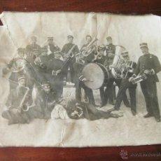 Militaria: FOTOGRAFIA DE PRINCIPIOS DEL S XX DE INA BANDA DE MUSICA MILITAR - REGIMIENTO DE INFANTERIA NUMERO 4. Lote 44177537