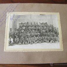 Militaria: FOTOGRAFIA DE UN GRUPO DE SOLDADOS DE INGENIEROS EN 1923. Lote 44177605
