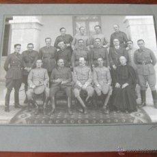 Militaria: FOTOGRAFIA DE UN GRUPO DE OFICIALES EN LA ACADEMIA DE CABALLERIA DE VALLADOLID - ALFONSO XIII. Lote 44177687