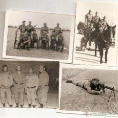 Militaria: 4 FOTOS DE MILITARES. Lote 44214221