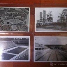 Militaria: 4 FOTO POSTAL OLIMPIADAS DE BERLIN III REICH. Lote 44242695