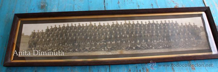 ANTIGUA Y EXCEPCIONAL FOTOGRAFIA PANORAMICA - B. C OY 2/7 TH REAL BATALLON ESCOCES - CHELMSFORD AÑO (Militar - Fotografía Militar - I Guerra Mundial)
