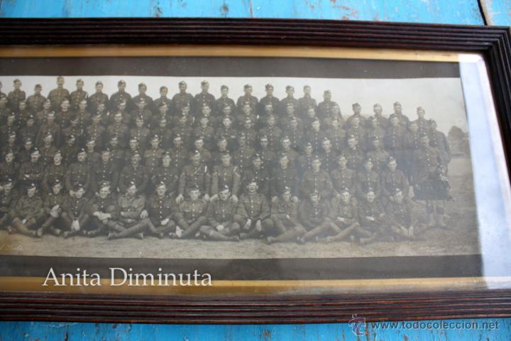 Militaria: ANTIGUA Y EXCEPCIONAL FOTOGRAFIA PANORAMICA - B. C oy 2/7 TH REAL BATALLON ESCOCES - CHELMSFORD AÑO - Foto 5 - 44345430