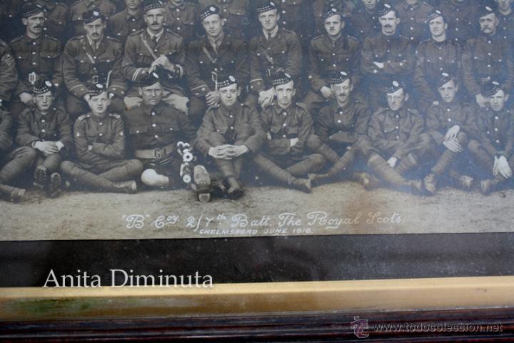 Militaria: ANTIGUA Y EXCEPCIONAL FOTOGRAFIA PANORAMICA - B. C oy 2/7 TH REAL BATALLON ESCOCES - CHELMSFORD AÑO - Foto 7 - 44345430
