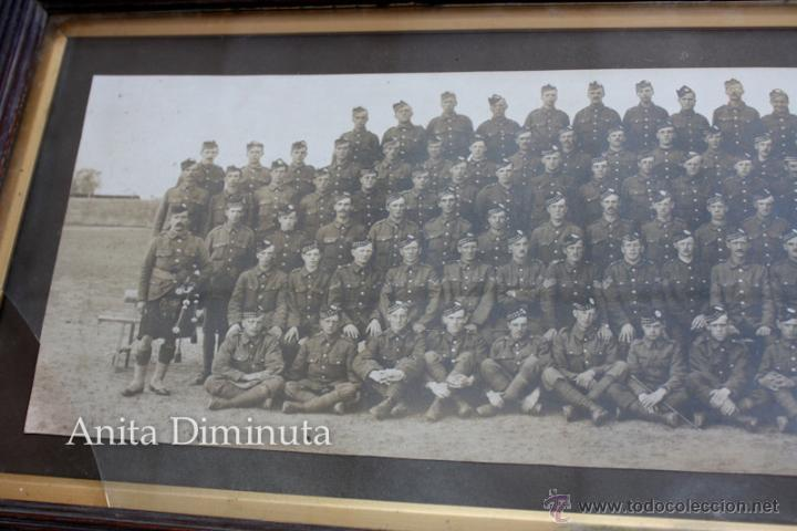 Militaria: ANTIGUA Y EXCEPCIONAL FOTOGRAFIA PANORAMICA - B. C oy 2/7 TH REAL BATALLON ESCOCES - CHELMSFORD AÑO - Foto 9 - 44345430