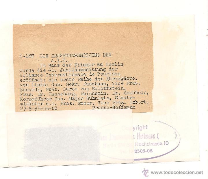 Militaria: DR. GOEBBELS CON DIFERENTES AUTORIDADES EL 27 DE MAYO DE 1938 - Foto 2 - 44431853