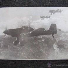 Militaria: FOTOGRAFÍA ORIGINAL II GUERRA MUNDIAL. 16.5X10CM. AVIONES ALEMANES. . Lote 44449202