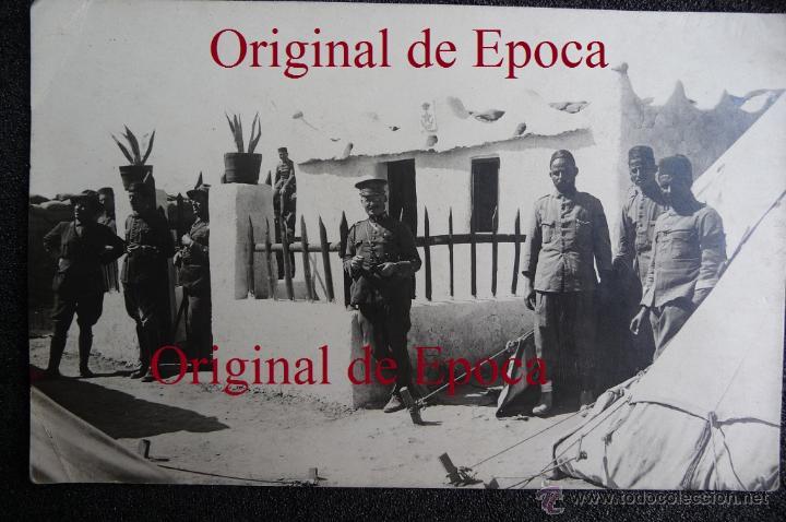 (JX-1586)FOTOGRAFIA DE D.GERARDO GONZALEZ,PUESTO DE LA POLICIA INDIGENA ACABADO,CAMPAÑA DEL RIF (Militar - Fotografía Militar - Otros)