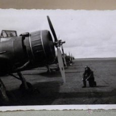 Militaria: FOTOGRAFIA MILITAR, ANTIGUA, OFICIAL, FUERZA AEREA, PILOTO, AVIACION, ESPAÑA 1940S. Lote 44701729