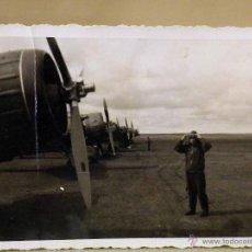 Militaria: FOTOGRAFIA MILITAR, ANTIGUA, OFICIAL, FUERZA AEREA, PILOTO, AVIACION, ESPAÑA 1940S. Lote 44701735