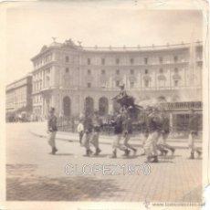 Militaria: SIGLO XIX, ALBUMINA, GRUPO DE MILITARES, 90X90MM. Lote 44732649