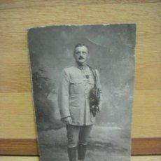 Militaria: FOTOGRAFIA DE MILITAR FRANCES CONDECORADO - REGIMIENTO 156 - ESCRITA EN OCTUBRE DE 1914. Lote 44831328