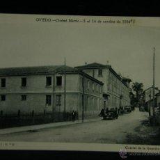 Militaria: OVIEDO CIUDAD MÁRTIR 5 AL 14 OCTUBRE 1934 SERIE I Nº 9 CUARTEL DE LA GUARDIA CIVIL . Lote 45079185