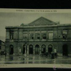 Militaria: OVIEDO CIUDAD MÁRTIR 5 AL 14 OCTUBRE 1934 SERIE I Nº 4 TEATRO CAMPOAMOR GUERRA CIVIL . Lote 45079457