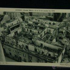Militaria: OVIEDO CIUDAD MÁRTIR 5 AL 14 OCTUBRE 1934 SERIE II Nº 10 PALACIO EPISCOPAL GUERRA CIVIL . Lote 45080595
