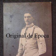 Militaria: (JX-1620)FOTOGRAFIA DE SOLDADO DE ARTILLERIA UNIFORME RAYADILLO,EPOCA ALFONSINA. Lote 45169641