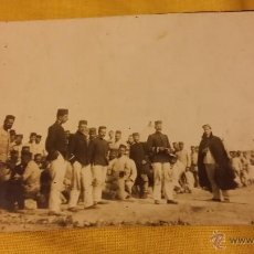Militaria: FOTO POSTAL CAMPAMENTO MILITAR EN BEN KARRICH, TETUAN 1925 ,OFICIALES Y TROPA EPOCA ALFONSINA. Lote 45200780