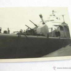Militaria: FOTOGRAFIA DE UN BARCO DE GUERRA. Lote 45408423